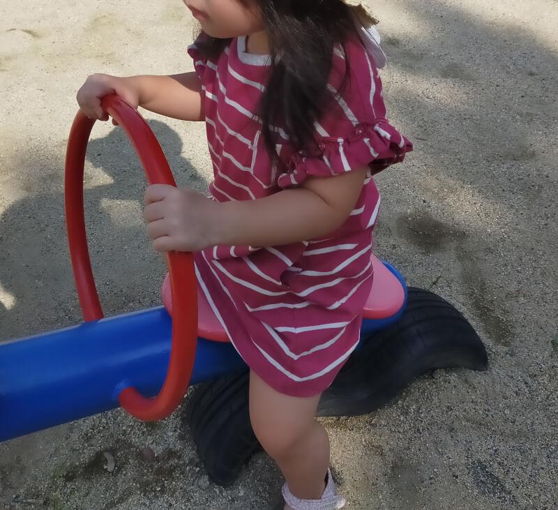 休日は娘と公園で遊ぼう♪セミの死骸発見で娘がびっくり!!【我が家の娘】