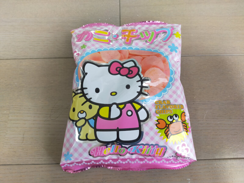 【ハローキティ】キティちゃんのかわいいお菓子ボックスの紹介 ハローキティのカニチップ