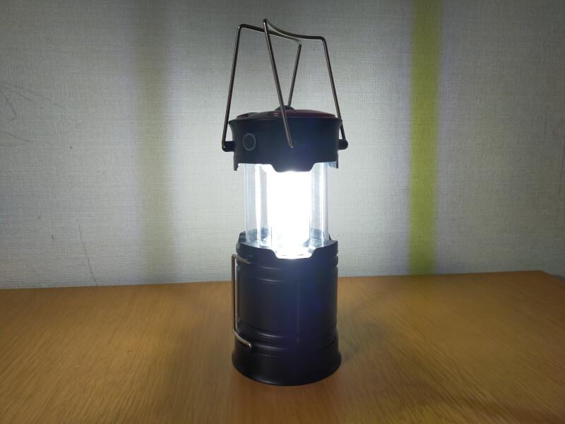 【コンパクト】明るくて持ち運び便利なLEDランタン【アウトドアや夜釣りにおすすめ】
