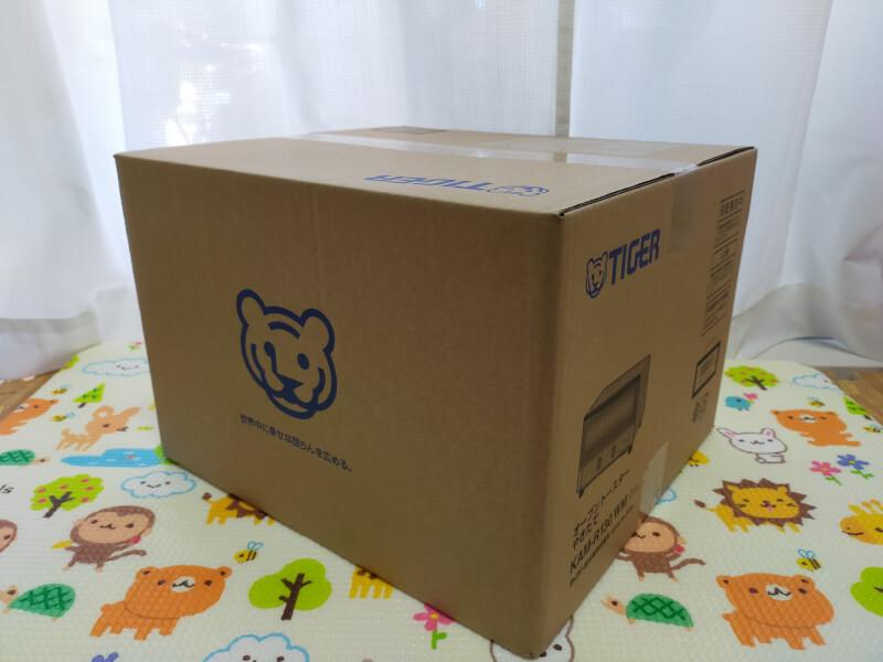 【レビュー】タイガー魔法瓶(TIGER)のオーブントースターが使いやすくておすすめ♪【KAM-R130WM】箱