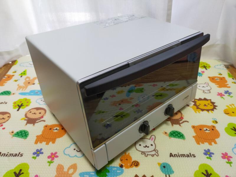 【レビュー】タイガー魔法瓶(TIGER)のオーブントースターが使いやすくておすすめ♪【KAM-R130WM】外観