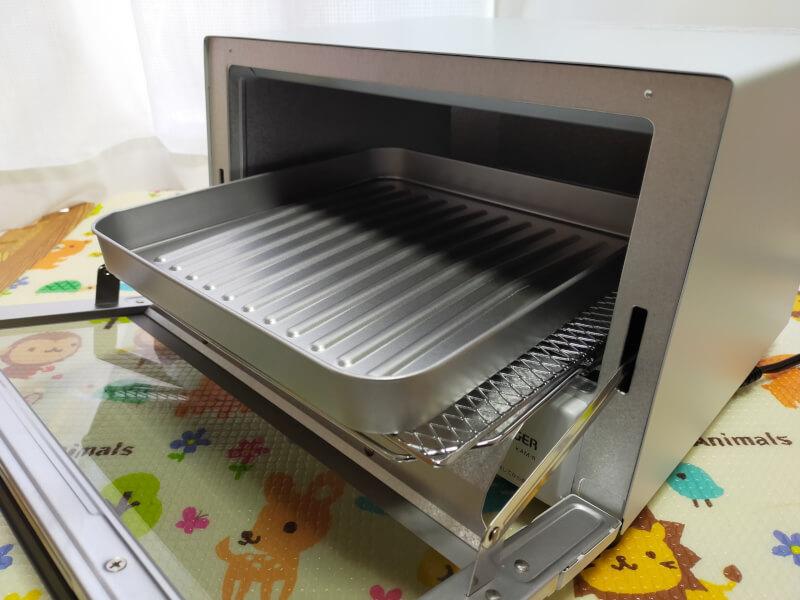 【レビュー】タイガー魔法瓶(TIGER)のオーブントースターが使いやすくておすすめ♪【KAM-R130WM】深皿調理トレイ