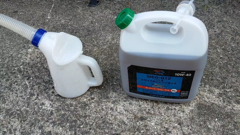 【オイル交換】エーゼットのエンジンオイル(MEO-012)と廃油処理がしやすいオイルパンのレビュー