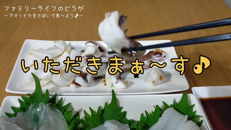 【アオリイカ】塩焼きと刺し身が絶品!さばいて調理に初挑戦!【さばき方や調理方法】実食